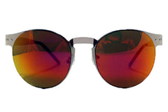 Spitfire - Endomorph Silver Sunglasses, Red Mirror Lenses