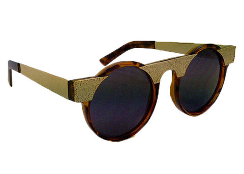Spitfire - Hi Teque Tortoise Shell & Gold Sunglasses, Black Lenses