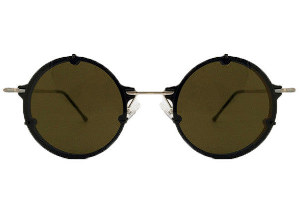 Spitfire - Infinity Black & Silver Sunglasses, Brown Lenses