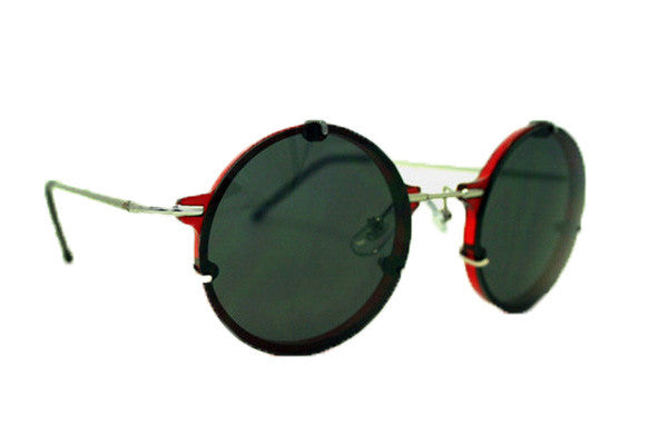 Spitfire - Infinity Red & Silver Sunglasses, Black Lenses