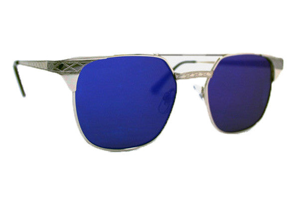 Spitfire - Lo Fi Silver Sunglasses, Blue Mirror Lenses