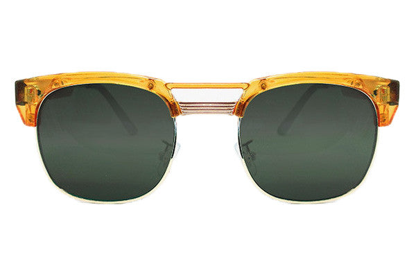 Spitfire - Rockabilly Orange & Gold Metal Sunglasses, Black Lenses