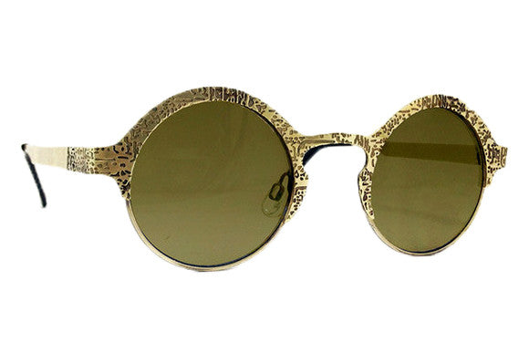 Spitfire - Sci Fi Gold Metal Sunglasses, Gold Mirror Lenses