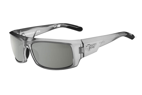 Spy - Admiral Clear Smoke Sunglasses, Happy Grey Green W/ Silver Mirror Lenses
