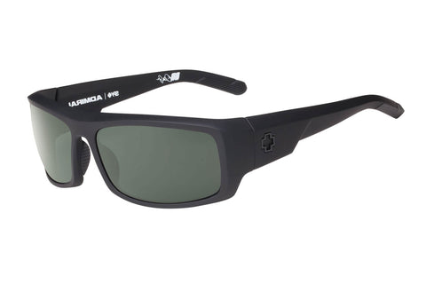 Spy - Admiral Soft Matte Black Sunglasses, Happy Grey Green Polar Lenses