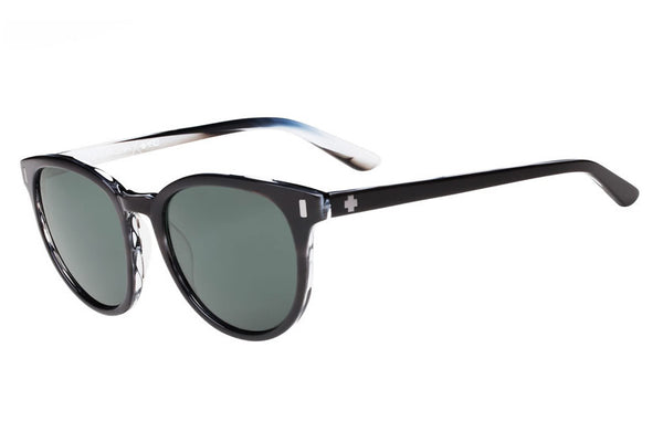 Spy - Alcatraz Black/Horn Sunglasses, Happy Grey Green Lenses