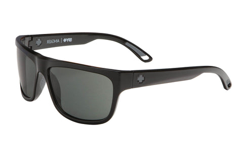 Spy - Angler Black Sunglasses, Happy Grey Green Polar Lenses