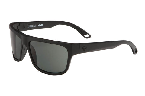 Spy - Angler Matte Black Sunglasses, Happy Grey Green Lenses