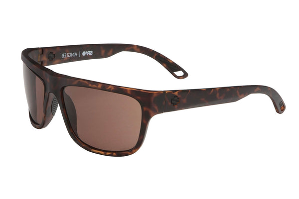 Spy - Angler Matte Camo Tort Sunglasses, Happy Bronze Lenses