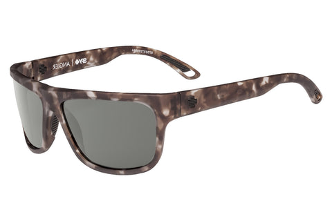 Spy - Angler Soft Matte Smoke Tort Sunglasses, Happy Grey Green Polar Lenses