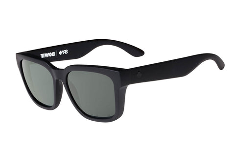 Spy - Bowie Matte Black Sunglasses, Happy Grey Green Polar Lenses