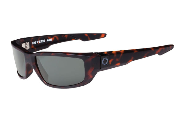 Spy - Dirty Mo Matte Camo Tort Sunglasses, Happy Grey Green Lenses