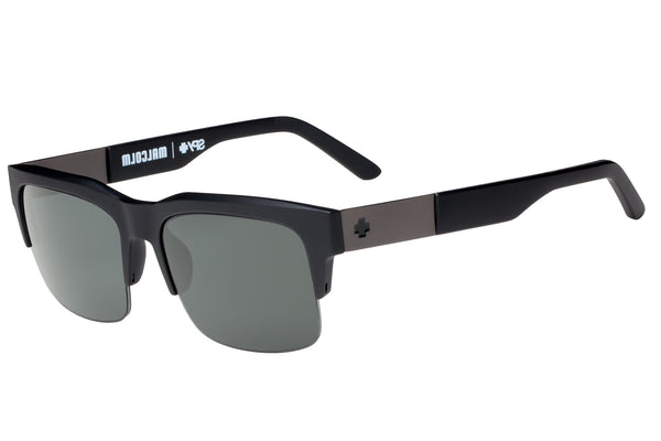 Spy - Malcolm Matte Black Sunglasses, Happy Grey Green Lenses
