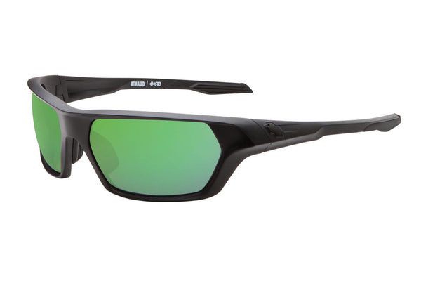 Spy - Quanta Matte Black Sunglasses, Happy Bronze Polar W/ Green Spectra Lenses
