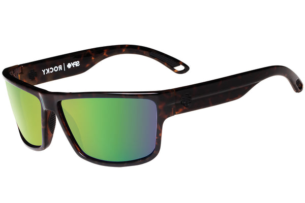 Spy - Rocky Classic Tort Sunglasses, Happy Bronze W/ Green Spectra Lenses