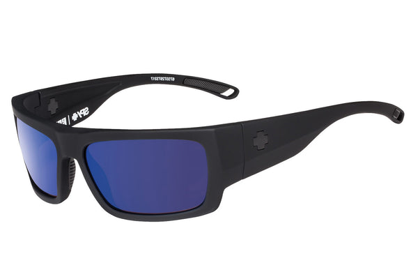 Spy - Rover Soft Matte Black Sunglasses, Happy Grey Green Polar W/ Dark Blue Spectra Lenses