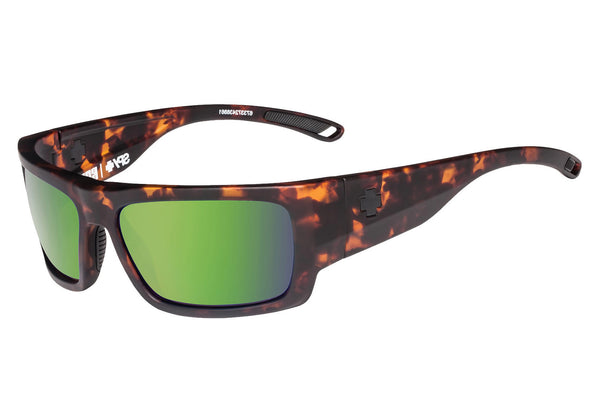 Spy - Rover Soft Matte Camo Tort Sunglasses, Happy Bronze Polar W/ Green Spectra Lenses