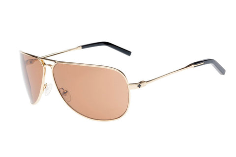 Spy - Wilshire Gold Shiny Sunglasses, Bronze Lenses