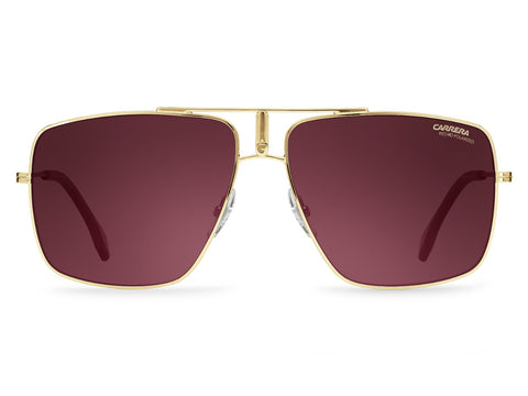 Carrera - 1006 Gold Sunglasses / Burgundy Polarized Lenses