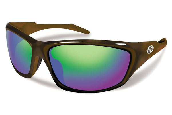 Flying Fisherman - St Croix 7317 Tortoise Sunglasses, Amber-Green Mirror Lenses