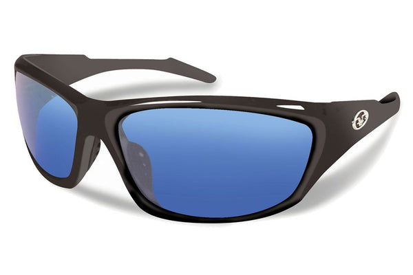 Flying Fisherman - St Croix 7317 Matte Black Sunglasses, Smoke-Blue Mirror Lenses