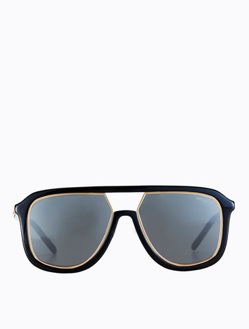 Poppy Lissiman - Stingray Black Gold Sunglasses / Black Lenses