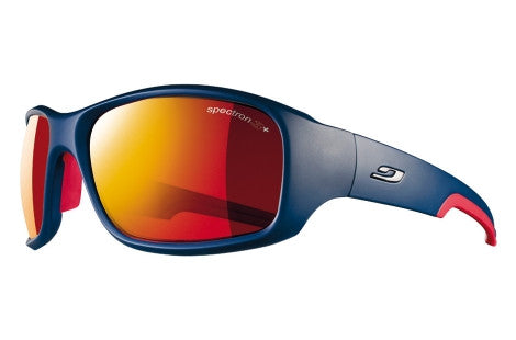 Julbo - Stunt Shiny Blue / Red Sunglasses, Spectron 3 CF Lenses