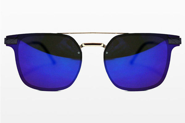 Spitfire - Subspace Silver Sunglasses, Blue Mirror Lenses