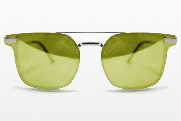 Spitfire - Subspace Silver Sunglasses, Yellow Mirror Lenses