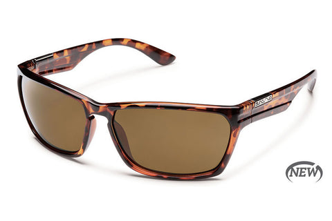 Suncloud - Cutout Tortoise Sunglasses, Brown Polarized Lenses