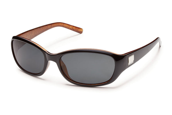 Suncloud - Iris Black Backpaint Sunglasses, Gray Polarized Lenses