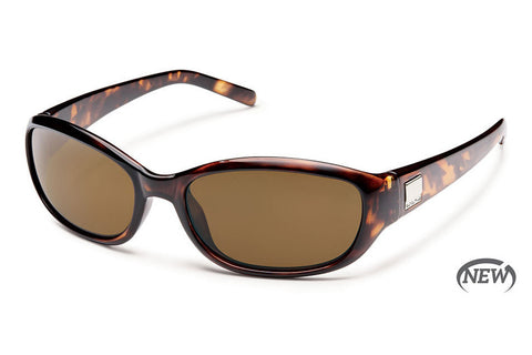Suncloud - Iris Brown Tortoise Sunglasses, Brown Polarized Lenses