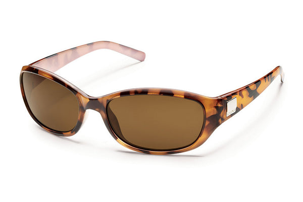 Suncloud - Iris Tortoise Backpaint Sunglasses, Brown Polarized Lenses