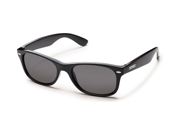 Suncloud - Jasmine Black Sunglasses, Gray Polarized Lenses