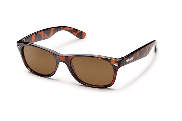 Suncloud - Jasmine Tortoise Sunglasses, Brown Polarized Lenses