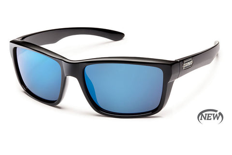 Native - Sightcaster Matte Smoke Crystal Sunglasses, Blue Reflex Lenses