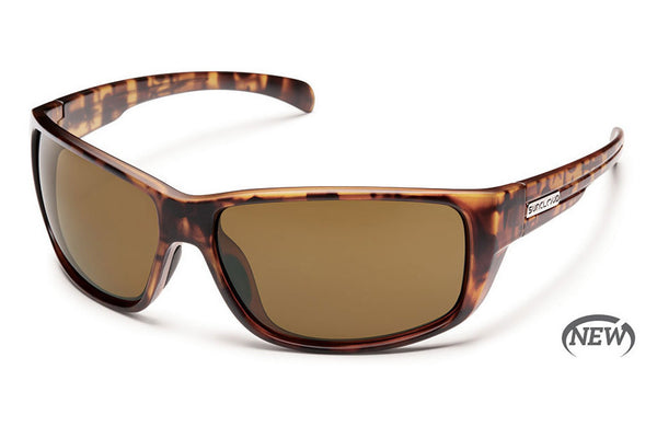 Suncloud - Milestone Matte Tortoise Sunglasses, Brown Polarized Lenses