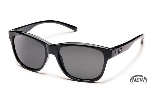 Suncloud Pageant Black Sunglasses, Gray Polarized Lenses