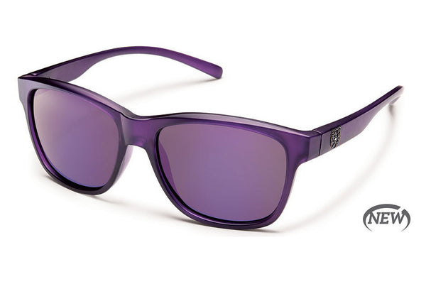 Suncloud - Pageant Purple Sunglasses, Purple Mirror Polarized Lenses