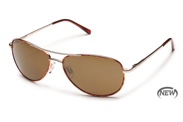 Suncloud - Patrol Tortoise Sunglasses, Brown Polarized Lenses