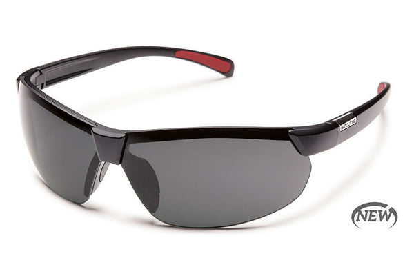 Suncloud - Switchback Matte Black Sunglasses, Gray Polarized Lenses