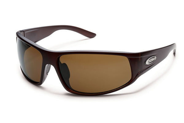 Suncloud - Warrant Matte Brown Sunglasses, Brown Polarized Lenses