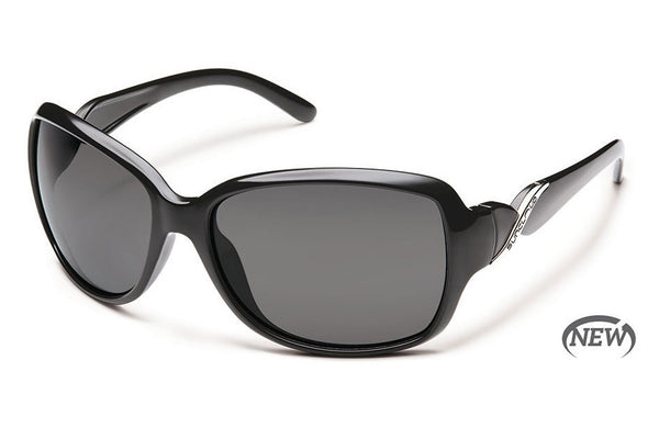 Suncloud - Weave Black Sunglasses, Gray Polarized Lenses