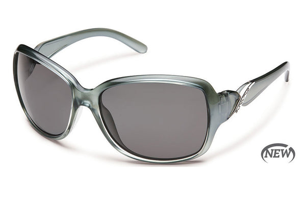 Suncloud - Weave Smoke Backpaint Sunglasses, Gray Polarized Lenses