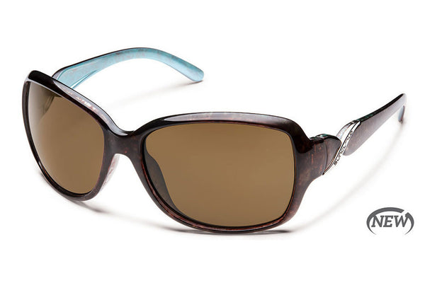 Suncloud - Weave Tortoise Backpaint Sunglasses, Brown Polarized Lenses