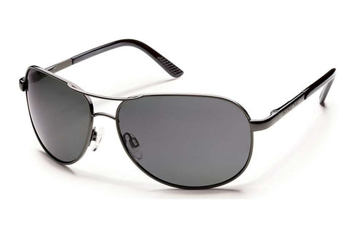Suncloud - Tailgate Black Sunglasses, Gray Polarized Lenses