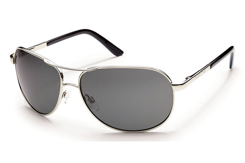 Suncloud - Patrol Silver Sunglasses, Gray Polarized Lenses