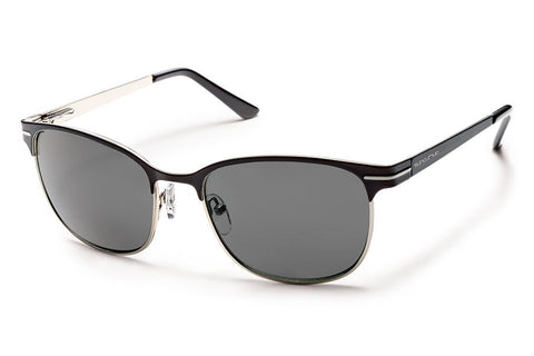 Suncloud - Causeway Black Sunglasses, Gray Polarized Lenses