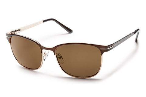 Suncloud Causeway Brown Sunglasses, Brown Polarized Lenses