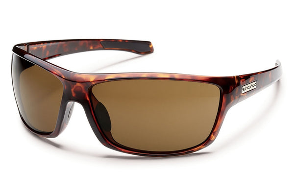 Suncloud - Conductor Tortoise Sunglasses, Brown Polarized Lenses